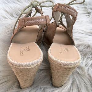 Anne Klein Shoes - Anne Klein Leather Espadrille Wedge Heel Sandals